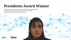 Iqra Mustafa celebrates success of President's Award at MTU Innovation Showcase